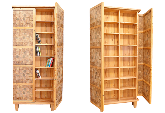 PTACEK Home heart pine cd/bookcase