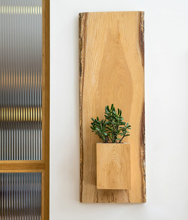 PTACEK Home Spalted Maple Wall Planter