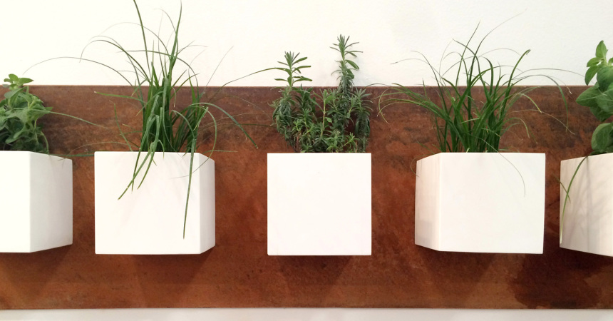 rusted corten planter by ptacek home